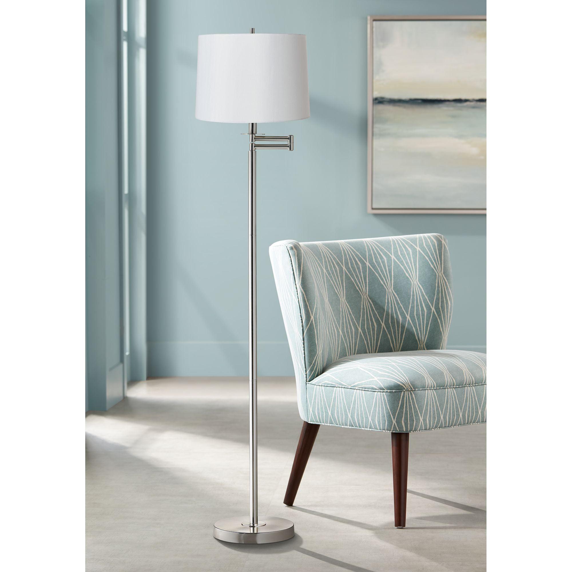 360 Lighting Modern Swing Arm Floor Lamp Brushed Nickel ...