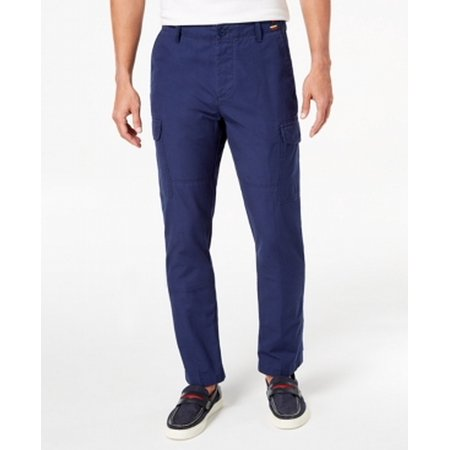 Mens Straight-Leg Button-Front Cargo Pants 33