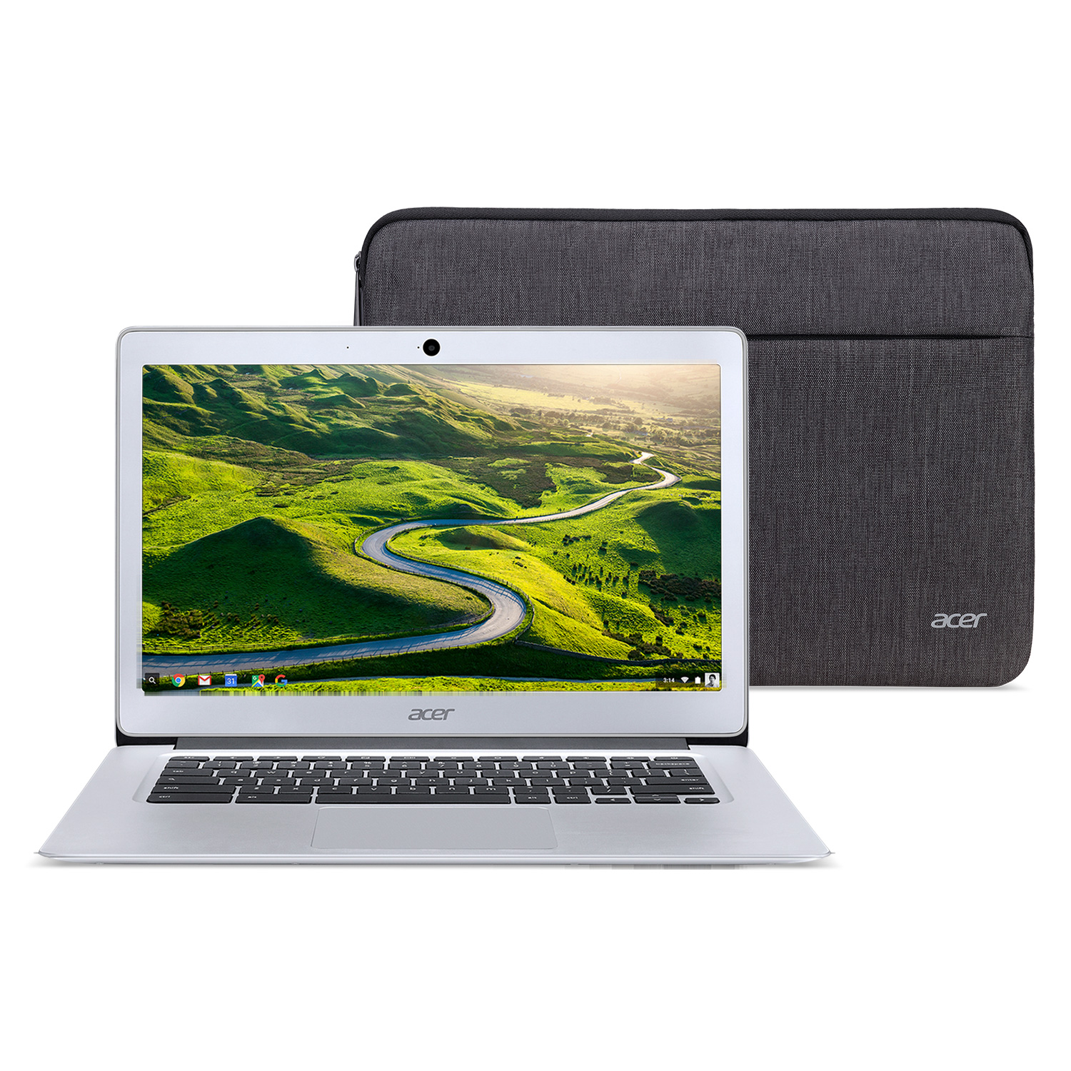Acer Chromebook and Sleeve $14...