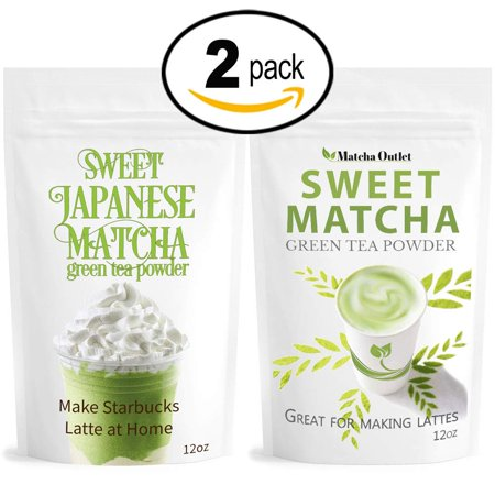 Sweet Matcha Green Tea Powder from Japan (2x 12oz/340g) Latte Grade; Delicious Energy Drink - Shake, Latte, Frappe, Smoothie. Made with USDA Organic Matcha - Matcha (Best Way To Drink Matcha)