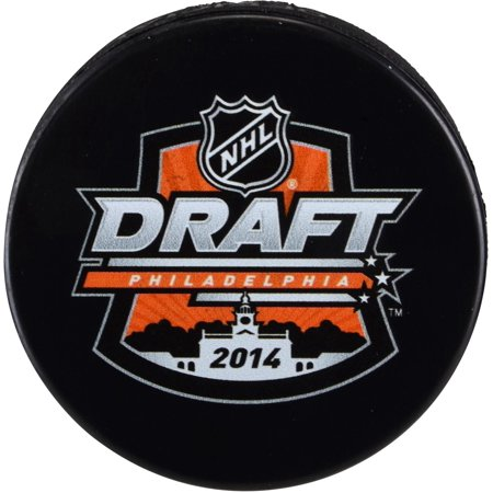 2014 NHL Draft Unsigned Draft Logo Hockey Puck