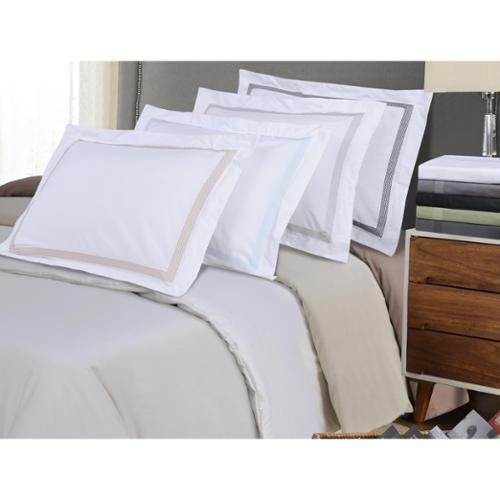 Microfiber Wrinkle Resistant Embroidered Peaks Duvet Cover Set Twin/Twin XL - Grey/Grey