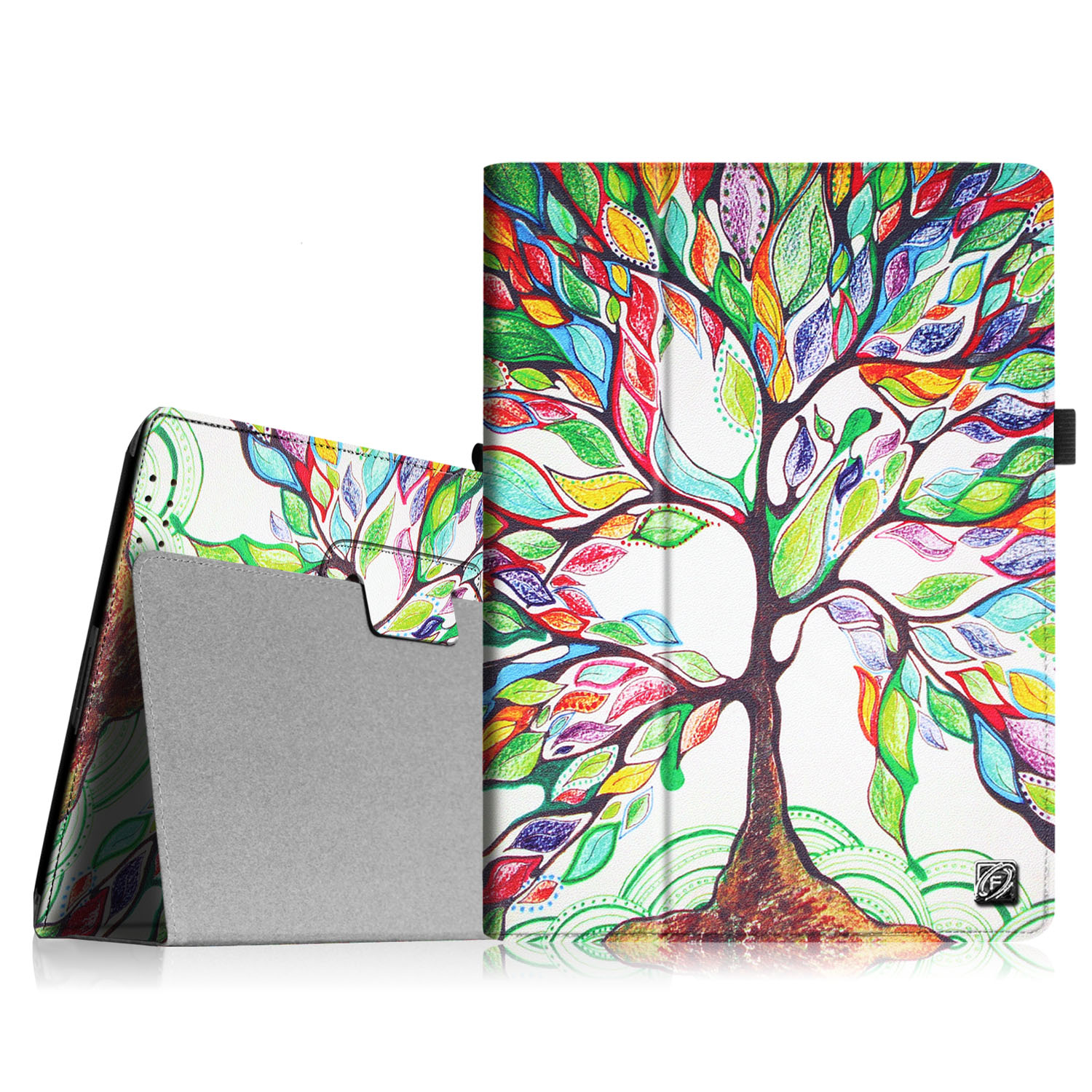 Fintie iPad 2/ iPad 3/ iPad 4 Gen Folio Case - PU Leather Cover with Auto Wake/ Sleep Feature, Love Tree
