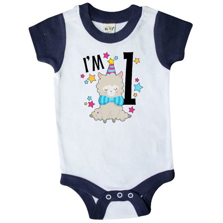 I'm One- cute llama first birthday Infant Creeper
