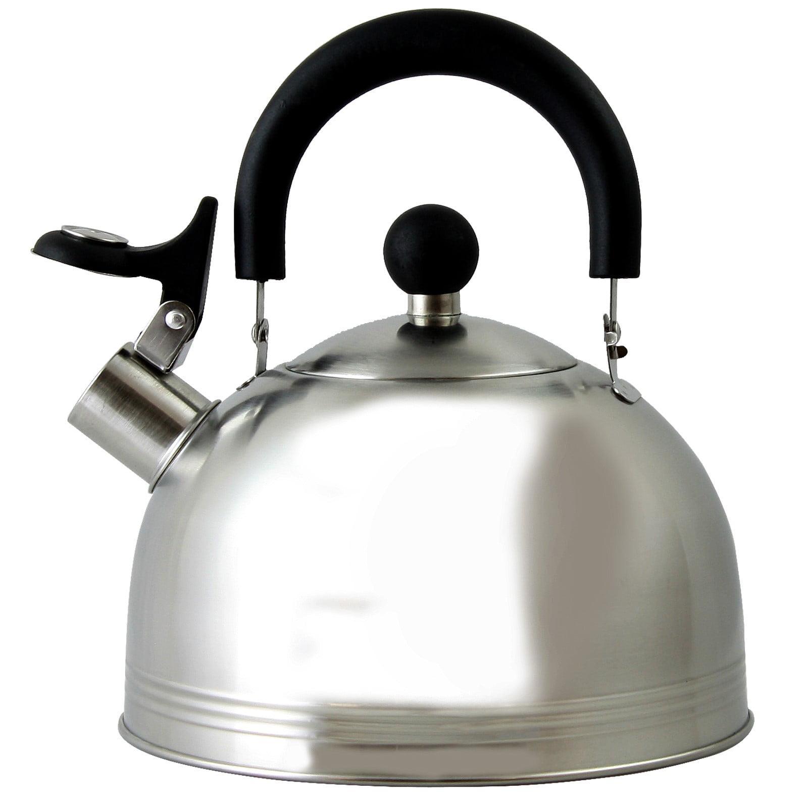 Mr. Coffee Carterton 1.5 Qt Stainless Steel Whistling Tea Kettle