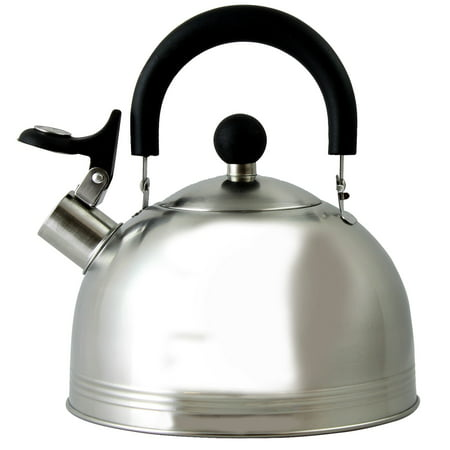 Mr Coffee Carterton 1 5 Qt Stainless Steel Whistling Tea Kettle