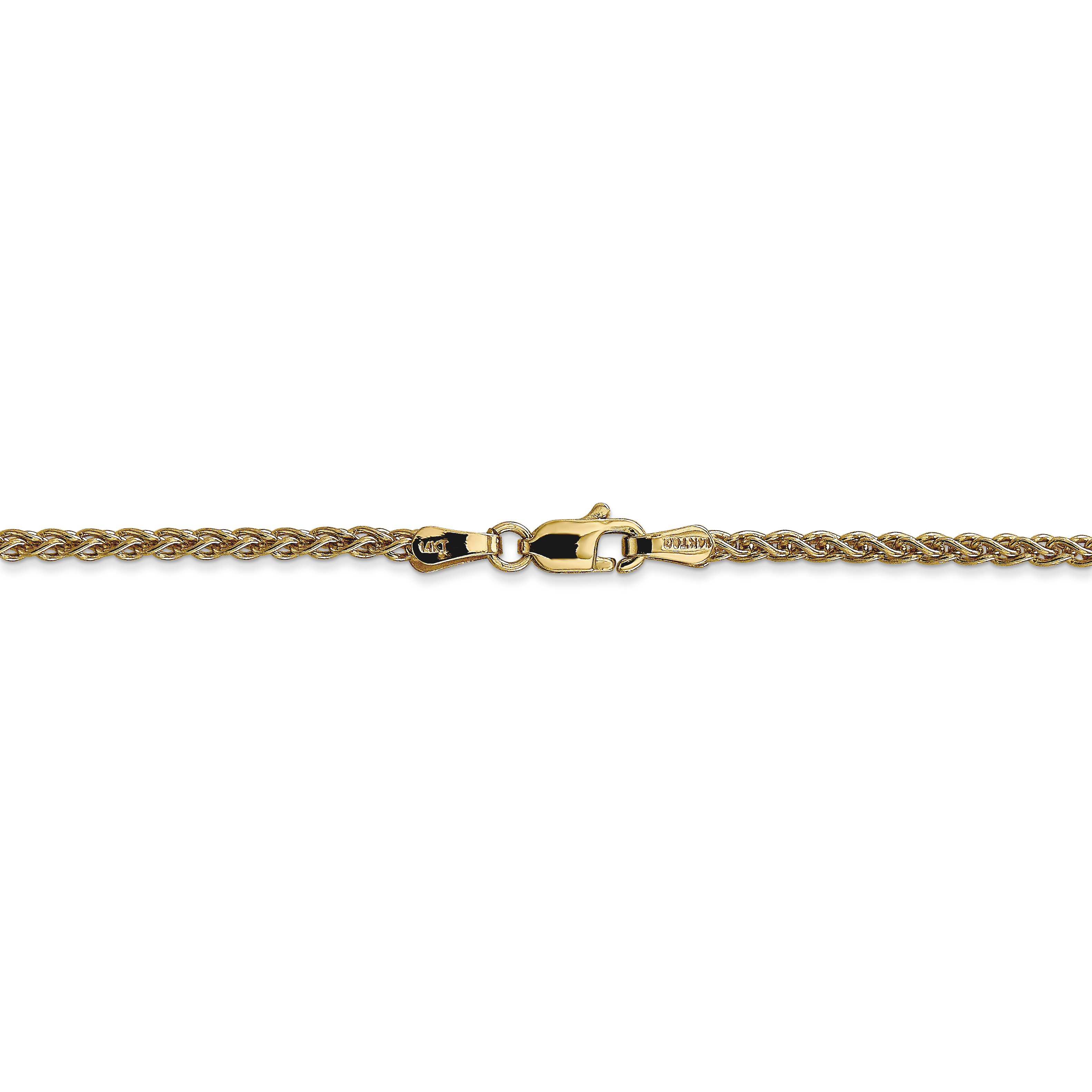 14k Yellow Gold 2mm Spiga Chain Necklace 30 Inch Pendant Charm Wheat Fine Jewelry Gifts For Women For Her - image 3 of 5