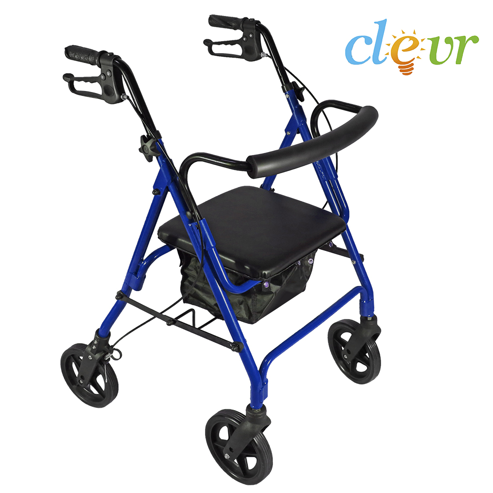 Clevr Folding Drive Rollator Medical Walker Seat Rolling