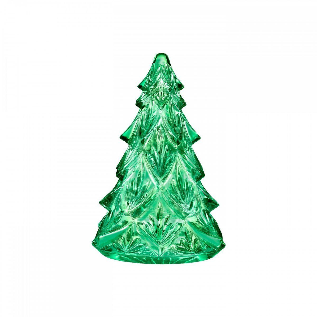 Waterford Medium Green Crystal Christmas Tree Sculpture F...