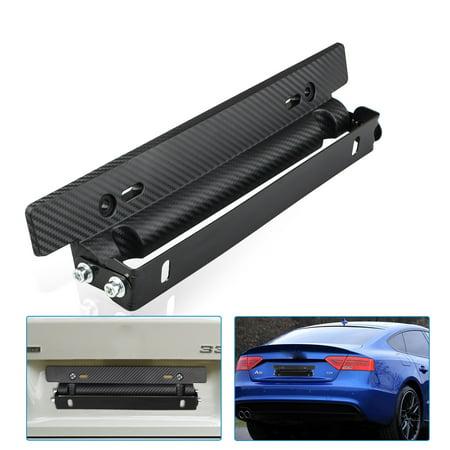 Universal Adjustable Carbon Fiber Car Racing License Plate Frame Holder (Universal Carbon Fiber)