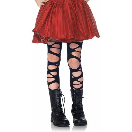Leg Avenue Tattered Tights Adult Halloween Accessory](Kids Halloween Tights)