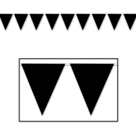 Black Pennant Banner  Pack Of 12