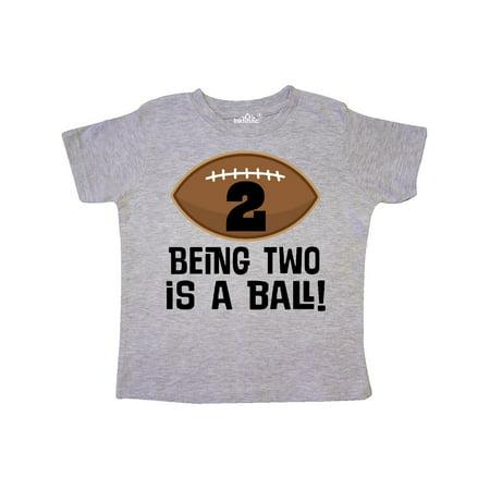 3454710f45f0d 2nd Birthday Football Sports Boys Toddler T-Shirt