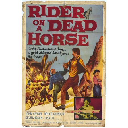 Rider on a Dead Horse POSTER Movie Mini Promo - Halloween Fancy Dress For Horse And Rider