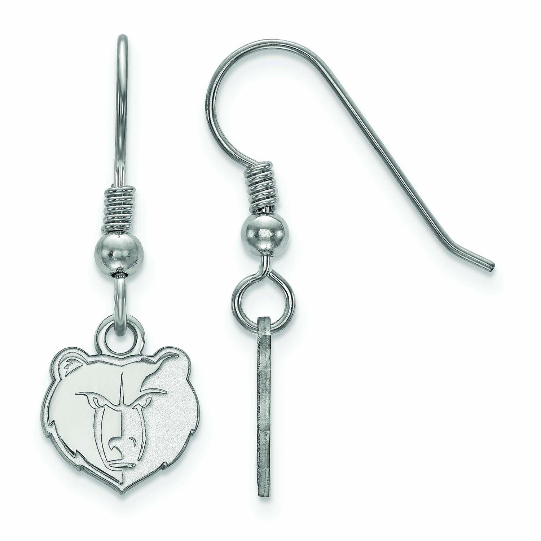 Memphis Grizzlies Women's Sterling Silver XS Dangle Earrings - No Size