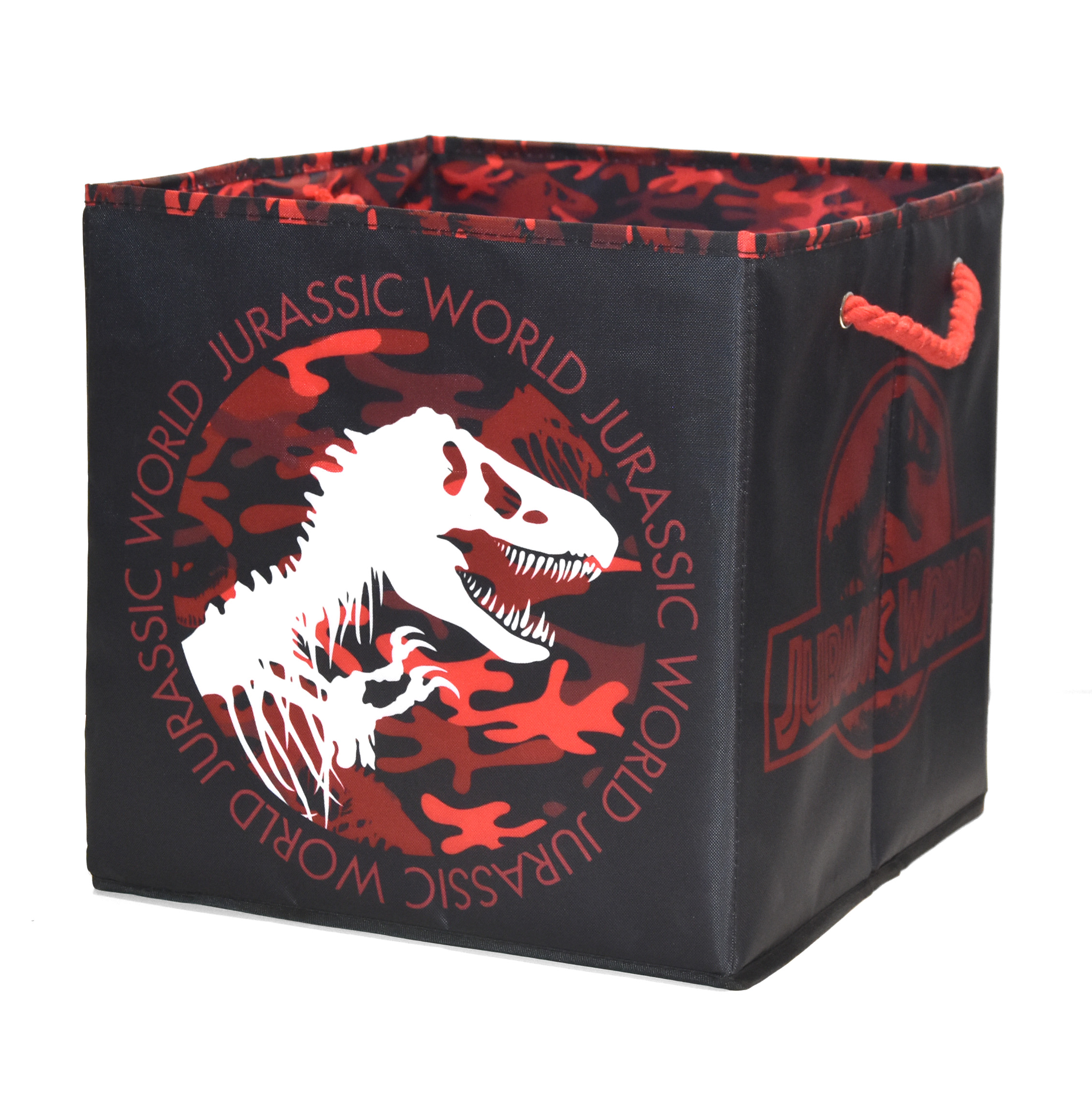 Jurassic World Collapsible Soft Storage Cube with Rope Handles