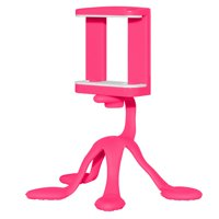 Flexible Multi Purpose Gekko Stand/Holder Mini Tripod Mount Portable for Smart Phone, GoPro,DSLR, Camera, Tablets, iPad, Kindle and Other Digital Devices - Pink
