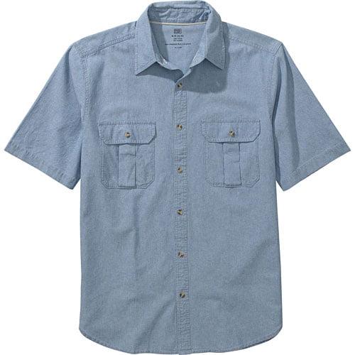 Faded Glory - Men's Short-Sleeve Button-Down Shirt - Walmart.com