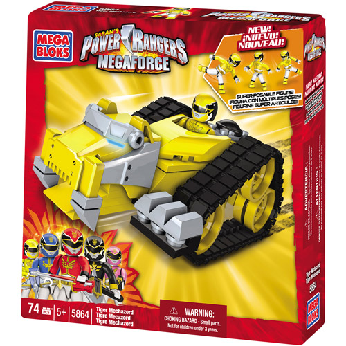 Power Rangers MegaForce Yellow Tiger Mechazord Set Mega Bloks 5864