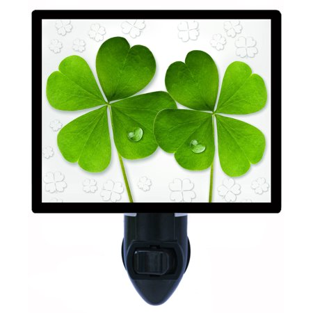 Night Light - Photo Light - Extra Good Luck - Four Leaf Clover - St. Patricks