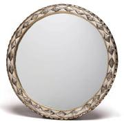 Moroccan Buzz 18-Inch Round Handmade Bone Moroccan Mirror (Morocco)