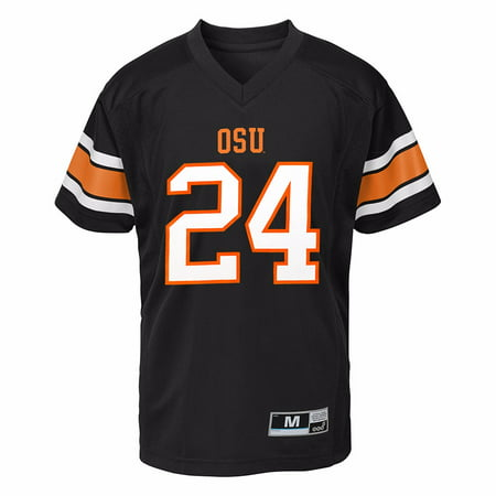 Oregon State Beavers Jersey - Oregon State Beavers NCAA Gen 2 Black Official Home #24 Replica Football Jersey For Boys