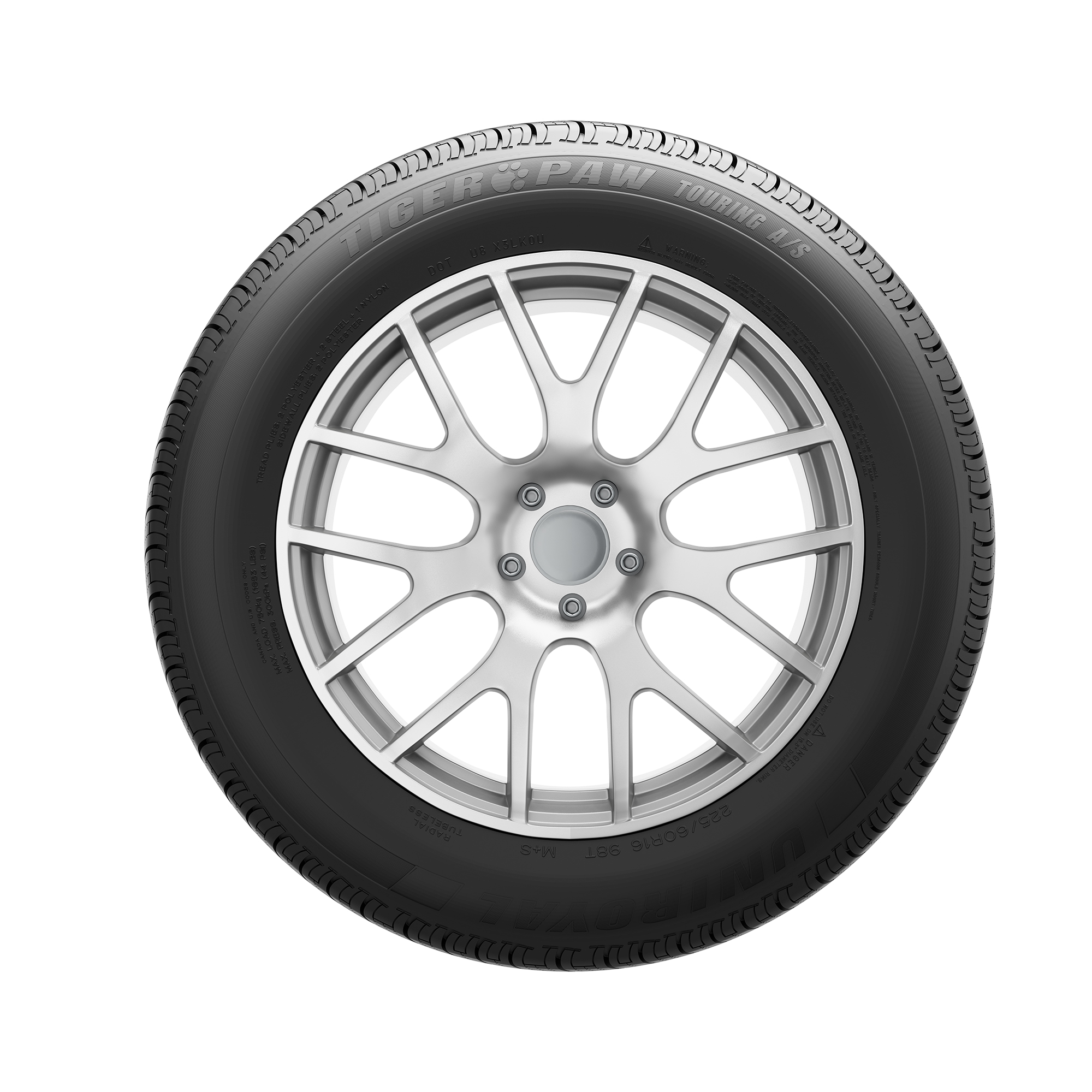 UNIROYAL Tiger Paw Touring A//S All Season Radial Tire-275//60R20 115H