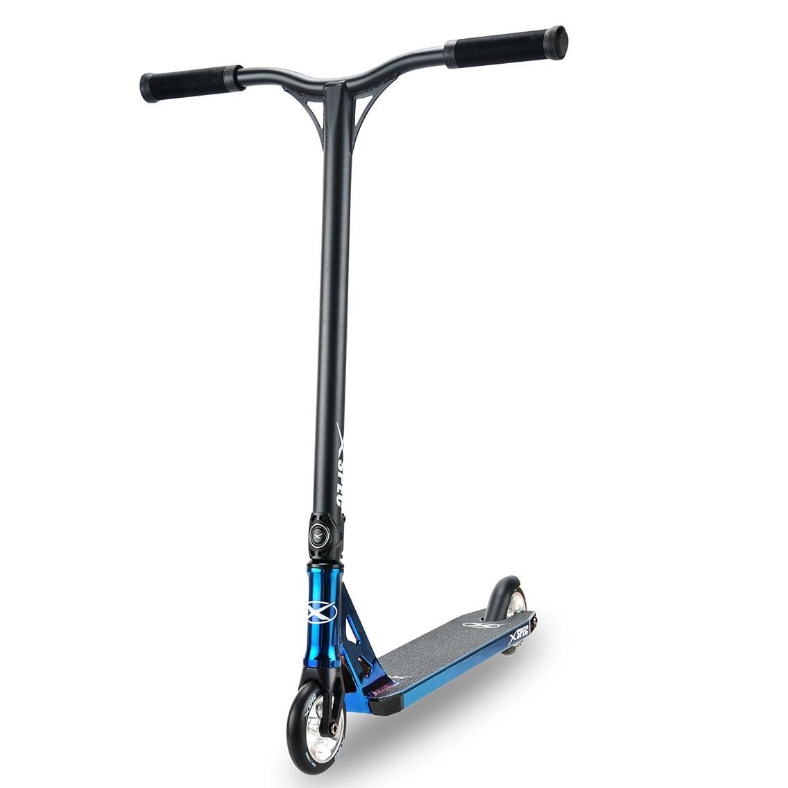 Xspec Blue Neo Chrome Pro Stunt Kick Scooter Anodized Aluminum BMX Handlebar by Xspec