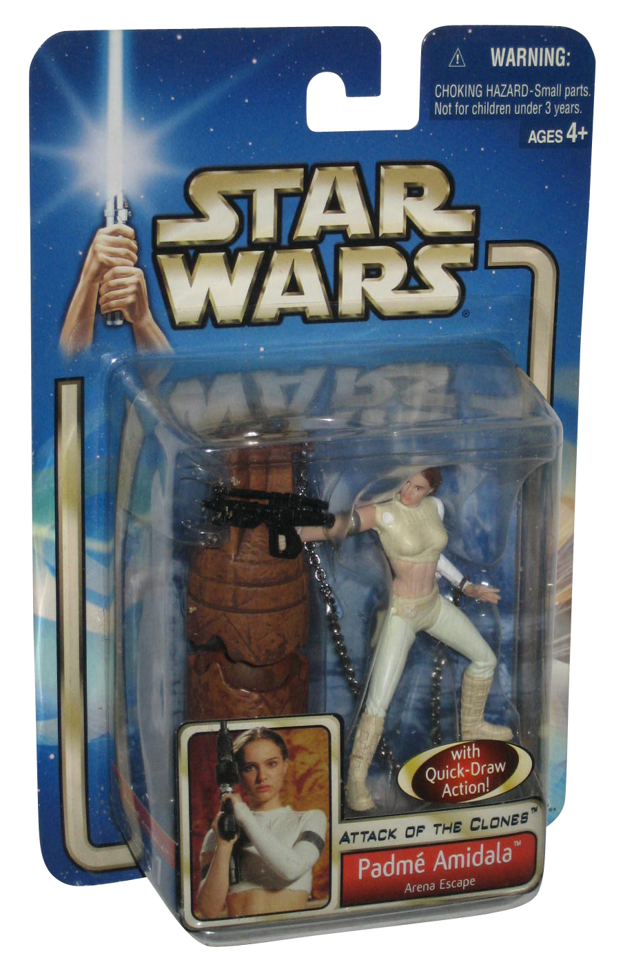 PADME AMIDALA ARENA ESCAPE star wars NEW attack of the clones ACTION FIGURE