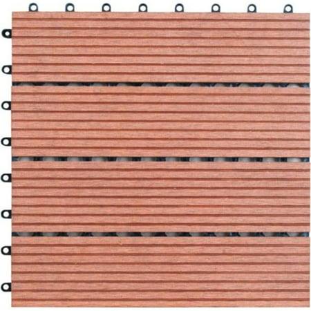Naturesort N4-OTM4 Four M Shape Slat Bamboo Composite DIY Deck Tiles  11