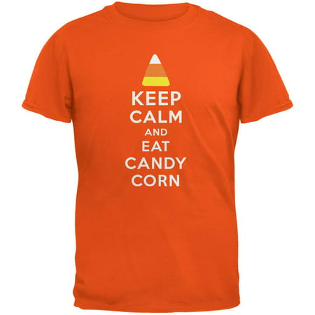 Halloween Keep Calm Candy Corn Orange Youth T-Shirt](Ate Too Much Halloween Candy)