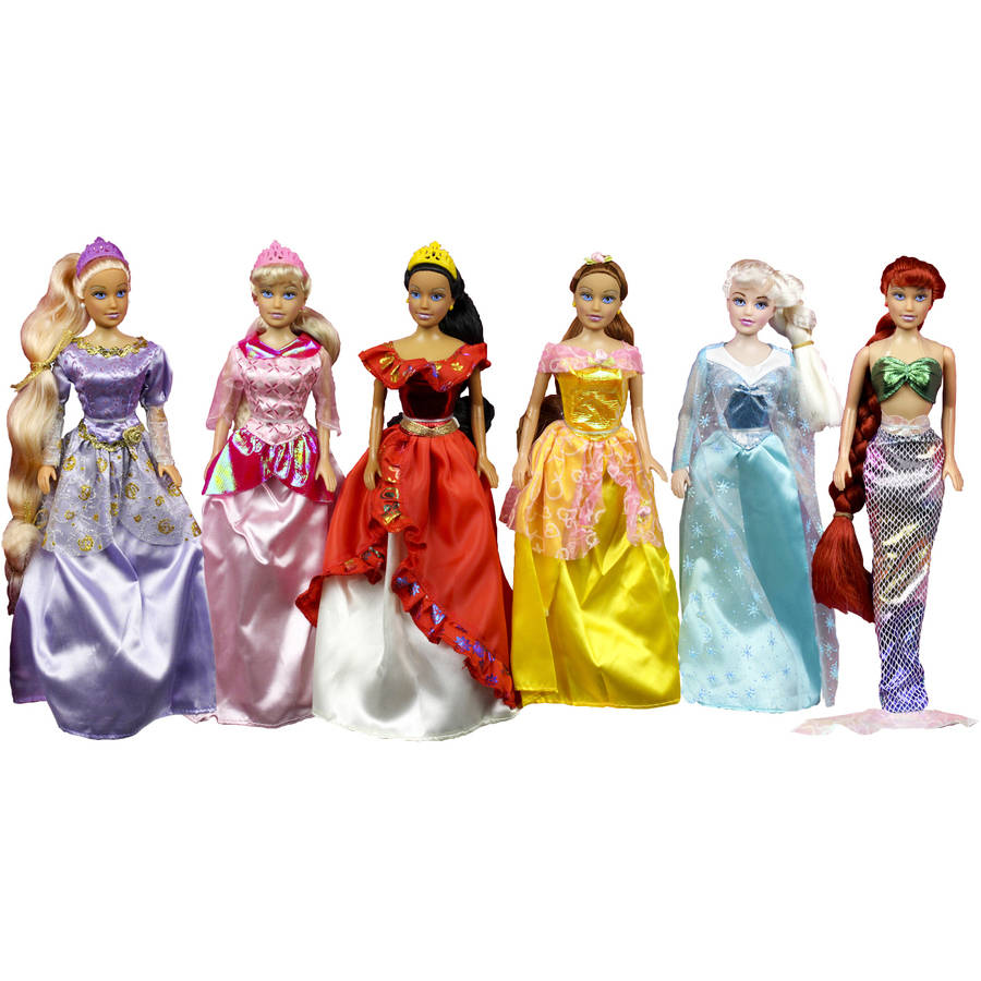 "Princess Gift Set Doll, 6-Pack, 11.5"" by Generic"