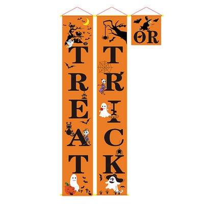 Halloween Parties In Miami 2019 (AkoaDa Halloween Pumpkin or Treat Trick Curtain Halloween Decorations Halloween 2019 Bat Spider Witch Pendant Halloween)