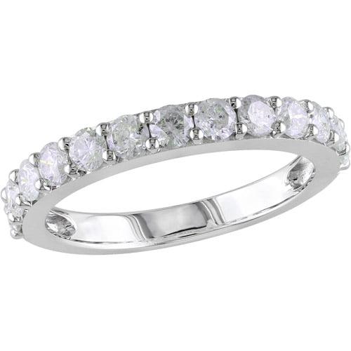 Miabella 1 Carat T.W. Single-Row Diamond Anniversary Ring in 10kt White Gold