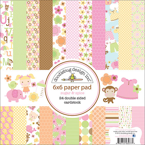 "Doodlebug Sugar and Spice Cardstock Pack 6"" x 6"""