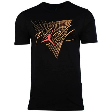 59ec614ba7c Jordan Men s Nike Jordan Flight Grid Jumpman T-Shirt-Black - Walmart.com
