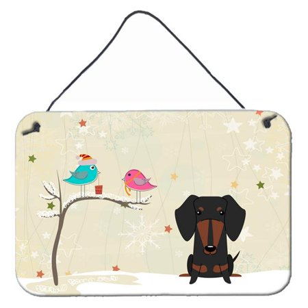 Carolines Treasures BB2602DS812 Christmas Presents Between Friends Dachshund Red & Brown Wall or Door Hanging Prints - image 1 de 1