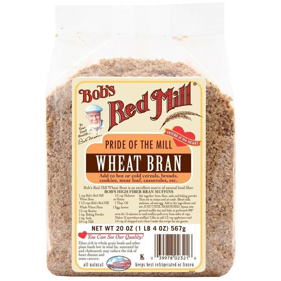 Bob's Red Mill Wheat Bran, 20 oz (Pack of 4)