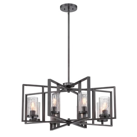 Designers Fountain 86588-CHA Elements Chandelier In Charcoal