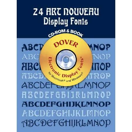 24 Art Nouveau Display Fonts