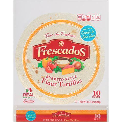 Frescados® Burrito Style Flour Tortillas 10 ct Bag