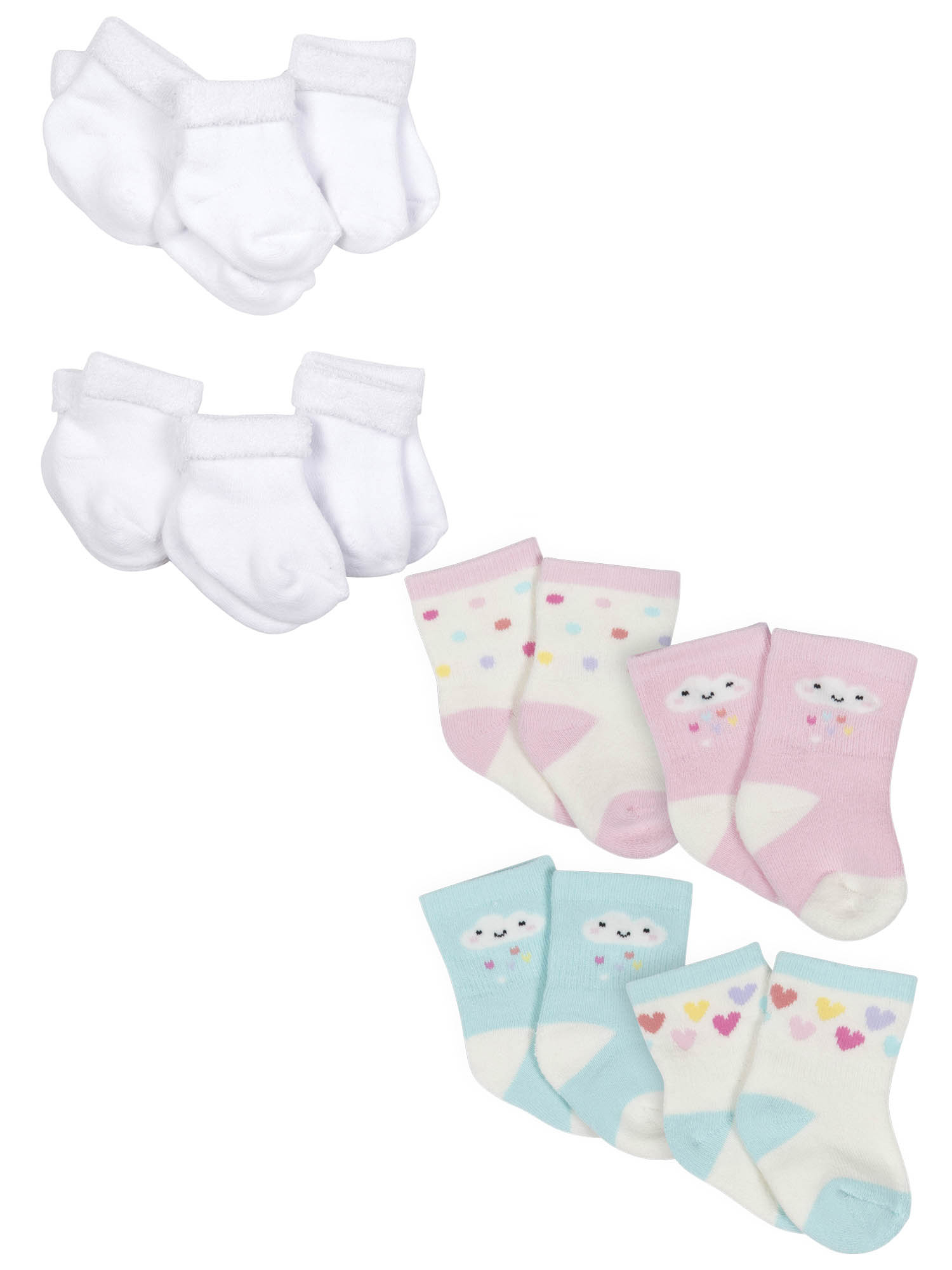 NEW Newborn Baby Girl Extra Thick Cotton Sock Tights NB grey So soft 0-6 mos