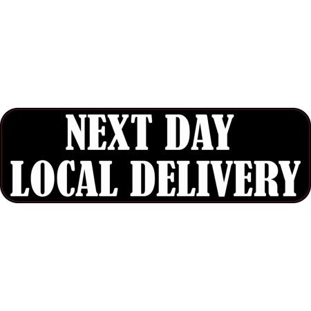 10in x 3in Next Day Local Delivery Sticker Vinyl Business Door Sign (Next Day Delivery Glasses)