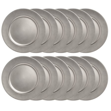 Lincoln International Products 12 Pack 13 Round Charger Plate Set Dining Table Home Decor Plates