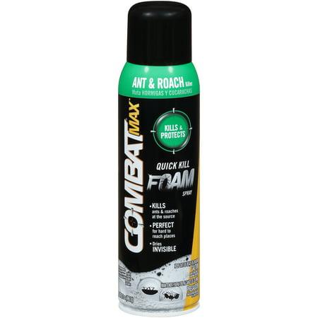 (Combat Max Ant and Roach Killer Quick Kill Foam Spray, 17.5 Ounce)