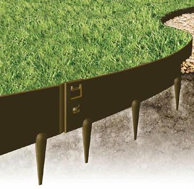 EverEdge Heavy Duty Lawn Edging - 2.5 mm thick-4 in. HD BROWN