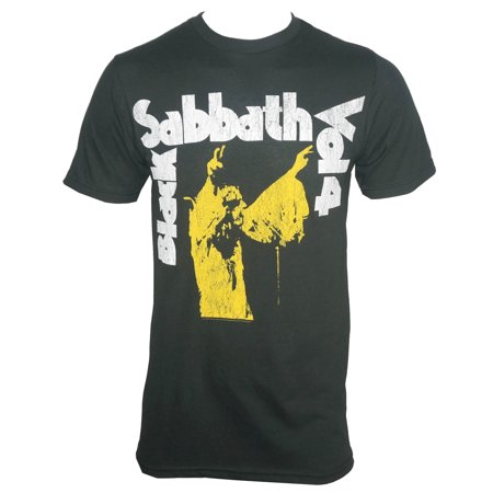 BLACK SABBATH VOL. 4 Album Cover Logo T-Shirt Album White T-shirt