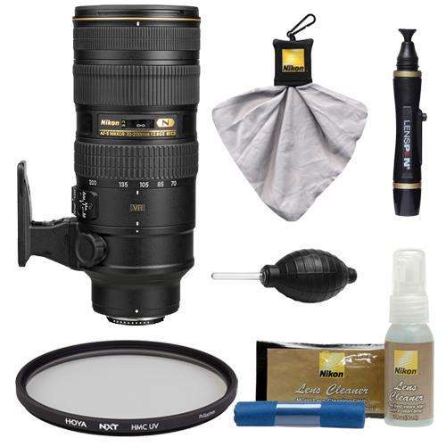 Nikon 70-200mm f/2.8G VR II AF-S ED-IF Zoom-Nikkor Lens with Hoya UV Filter + Kit for D3200, D3300, D5300, D5500, D7100, D7200, D750, D810 Cameras