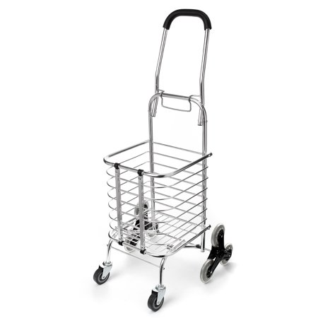 dd8e14871576 Folding Stair Climbing Shopping Cart Trolley Home 8 Wheels Stair Climber  Gift Wheel Roller Portable Foldable Stainless Steel Travel Outdoor 60KG Load
