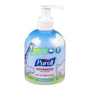 Purell Advanced Hand Sanitizer Refreshing Gel Baby Graphics Cup Holder Size Bottle, 8.0 fl oz
